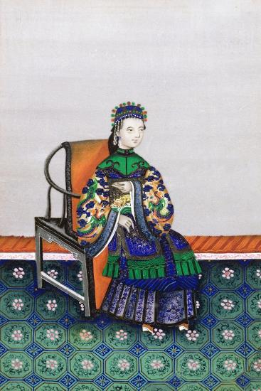 Portrait of a Chinese Woman--Giclee Print