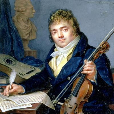 Portrait of a Composer, with His Violin and Score-Francois Elie Vincent-Giclee Print