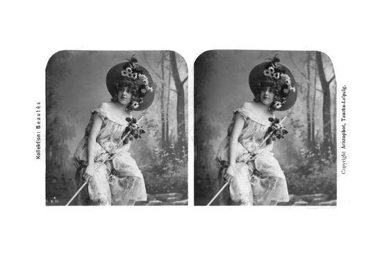 Portrait of a Costumed Woman, Early 20th Century- Aristophot-Giclee Print