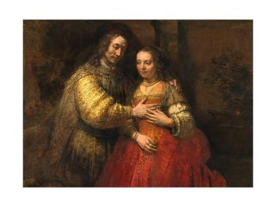 Portrait of a Couple as Figures from the Old Testament, known as 'The Jewish Bride'-Rembrandt van Rijn-Giclee Print