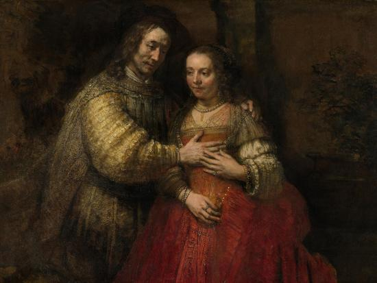 Portrait of a Couple as Isaac and Rebecca, known as 'The Jewish Bride'-Rembrandt van Rijn-Art Print