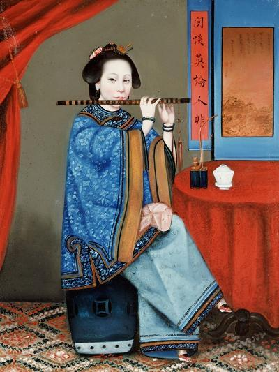 Portrait of a Court Lady Seated--Giclee Print
