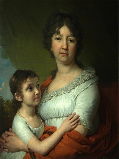 Portrait of A.E. Labzina and Her Foster-Daughter S.A. Mudrova, 1803-Vladimir Lukich Borovikovsky-Giclee Print