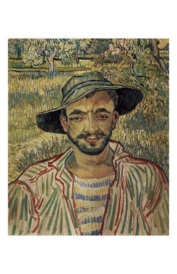 Portrait of a Famer-Vincent van Gogh-Art Print