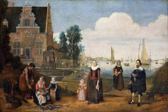 Portrait of a Family, First Third of 17th C-Arent Arentsz-Giclee Print