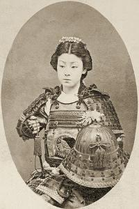 Portrait of a Female Warrior with Flowers in Her Hair, C.1895
