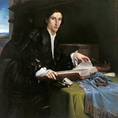 Portrait of a Gentleman in His Study-Lorenzo Lotto-Giclee Print