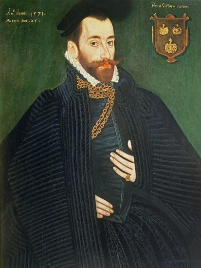 Portrait of a Gentleman, Traditionally Called a Member of the Dacre Family, 1571-George Gower-Giclee Print
