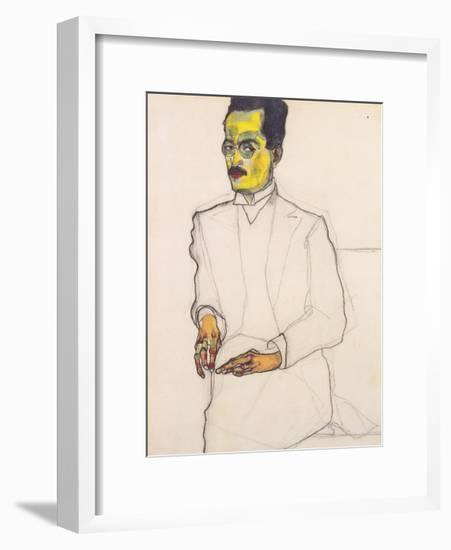 Portrait of a Gentleman-Egon Schiele-Framed Premium Giclee Print
