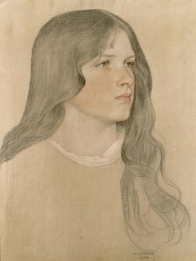 Portrait of a Girl, 1904-William Strang-Giclee Print