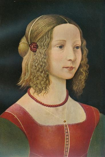 Portrait of a Girl, c1490, (1911)-Unknown-Giclee Print