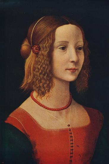 'Portrait of a Girl', c1490, (c1915)-Unknown-Giclee Print
