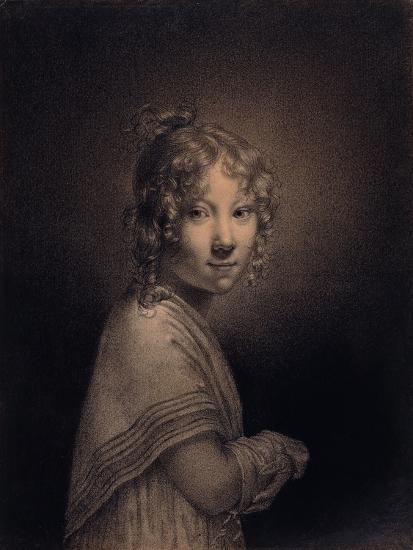 Portrait of a Girl, Half-Length-Louis Leopold Boilly-Giclee Print