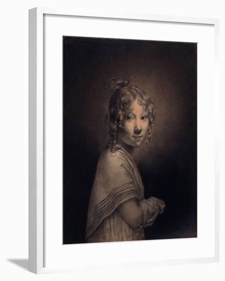 Portrait of a Girl, Half-Length-Louis Leopold Boilly-Framed Giclee Print