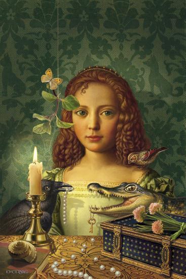 Portrait of a Girl-Dan Craig-Giclee Print
