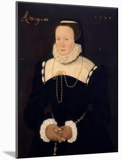 Portrait of a Lady, 1575-Cornelis Ketel-Mounted Premium Giclee Print
