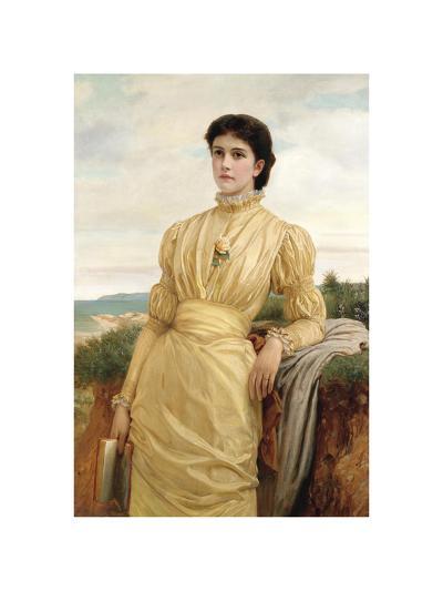 Portrait of a Lady, 1870-Charles Edward Perugini-Premium Giclee Print