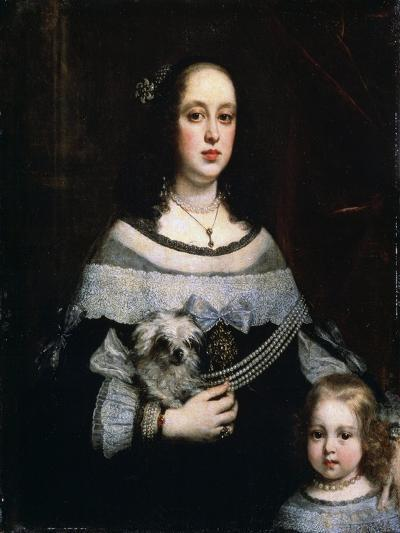 Portrait of a Lady and a Little Girl, C1660-Justus Sustermans-Giclee Print