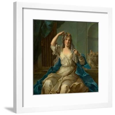Portrait of a Lady as a Vestal Virgin, 1759-Jean-Marc Nattier-Framed Giclee Print