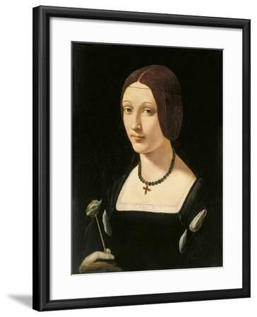 Portrait of a Lady as Saint Lucy-Giovanni Antonio Boltraffio-Framed Giclee Print