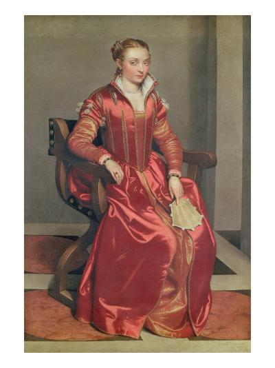 Portrait of a Lady, c.1555-60-Giovanni Battista Moroni-Giclee Print
