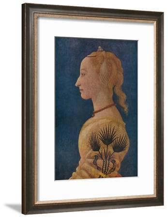 'Portrait of a Lady', c1465-Alesso Baldovinetti-Framed Giclee Print