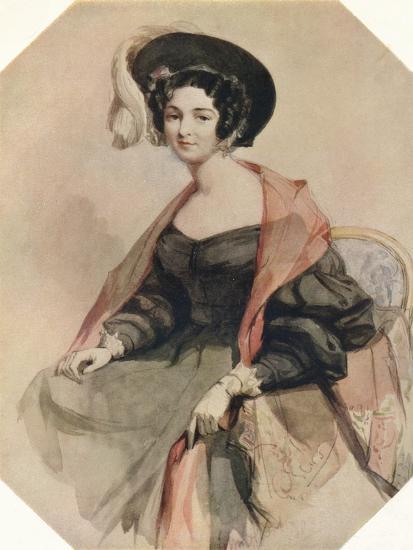 'Portrait of a Lady', c1855-John Absolon-Giclee Print