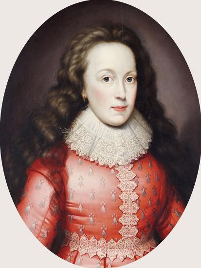 Portrait of a Lady Called Alathea, Countess of Arundel, 1619-Cornelius Johnson-Giclee Print