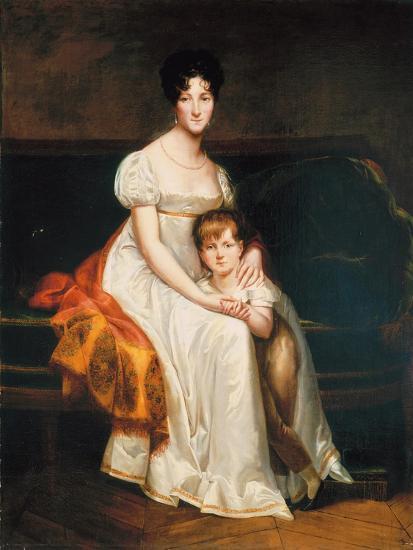 Portrait of a Lady, Said to Be Louise Catherine Eleonore De La Plaigne, 1814-Pierre-Paul Prud'hon-Giclee Print