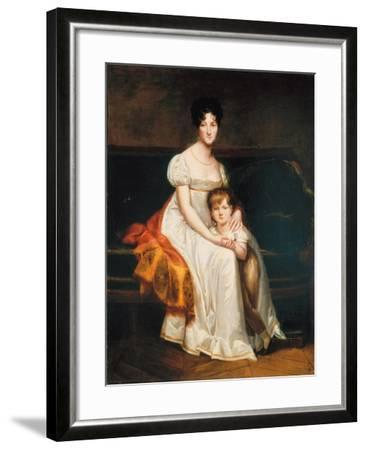 Portrait of a Lady, Said to Be Louise Catherine Eleonore De La Plaigne, 1814-Pierre-Paul Prud'hon-Framed Giclee Print