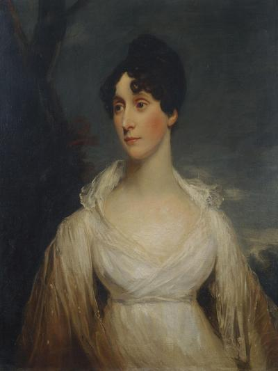 Portrait of a Lady Seated, Half Length, Wearing a White Dress-Sir William Beechey-Giclee Print