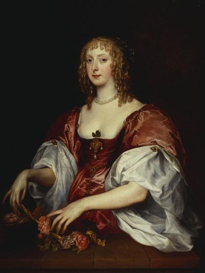 Portrait of a Lady, Traditionally as the Countess of Carnarvon-Anthony Van Dyck (Circle of)-Giclee Print