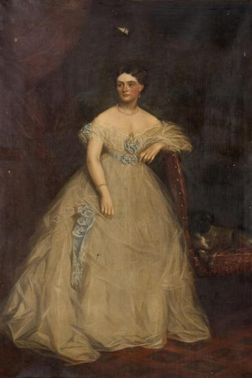 Portrait of a Lady Wearing a White Dress-Richard Buckner-Giclee Print