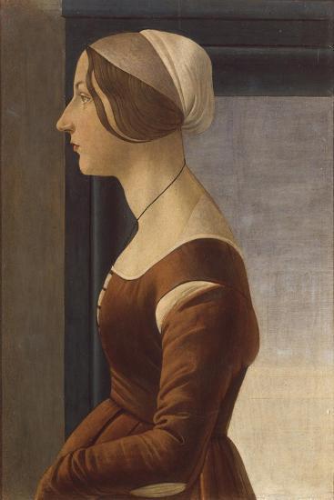 Portrait of a Lady with Cap (La Bella Simonetta)-Sandro Botticelli-Giclee Print