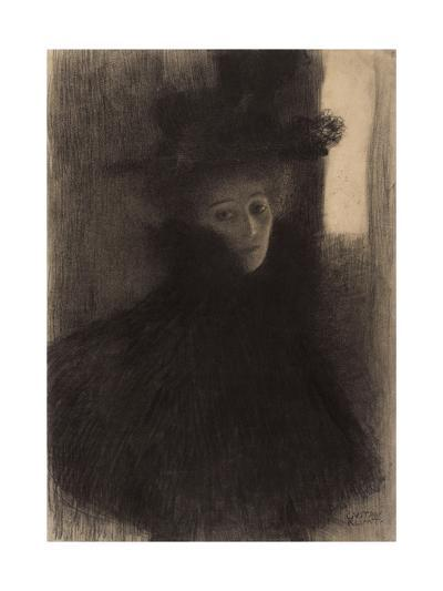 Portrait of a Lady with Cape and Hat-Gustav Klimt-Giclee Print