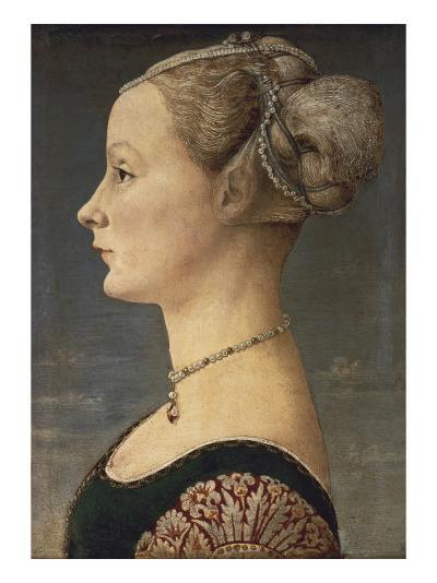 Portrait of a Lady-Antonio Pollaiolo-Art Print