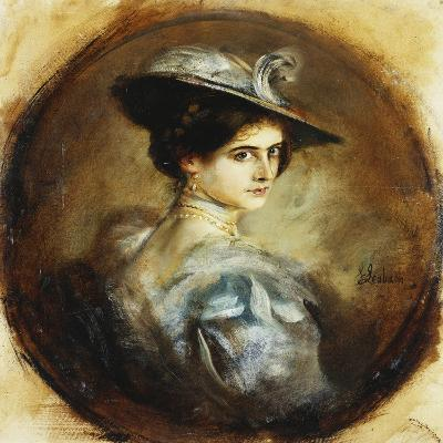 Portrait of a Lady-Franz Seraph von Lenbach-Giclee Print