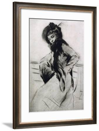 Portrait of a Lady-Lino Selvatico-Framed Giclee Print