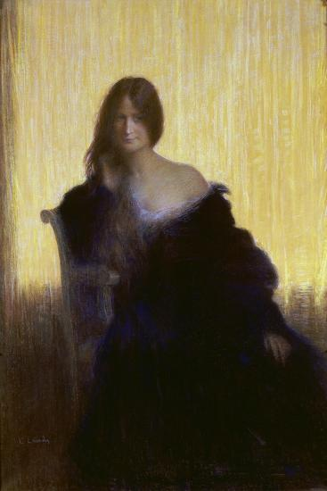 Portrait of a Lady-Charles Léandre-Giclee Print