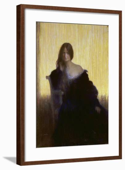 Portrait of a Lady-Charles Léandre-Framed Giclee Print