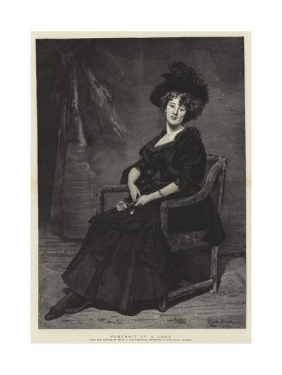 Portrait of a Lady-Charles Emile Auguste Carolus-Duran-Giclee Print