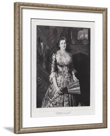 Portrait of a Lady-Sir Lawrence Alma-Tadema-Framed Giclee Print