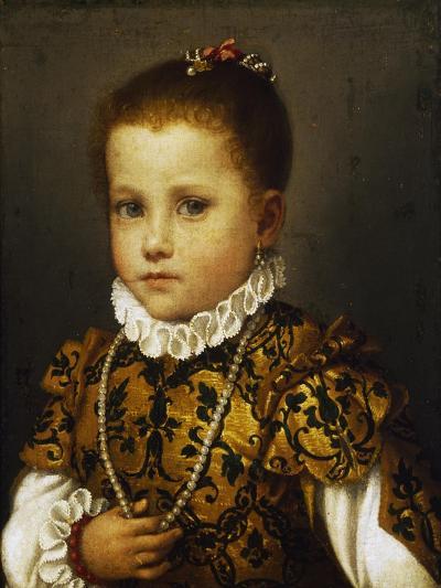 Portrait of a Little Girl, Ca 1570-Giovan Battista Moroni-Giclee Print