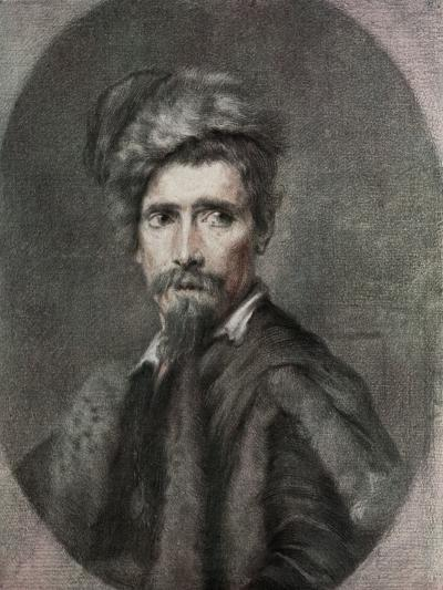 Portrait of a Man, 17th Century-C Hutin-Giclee Print