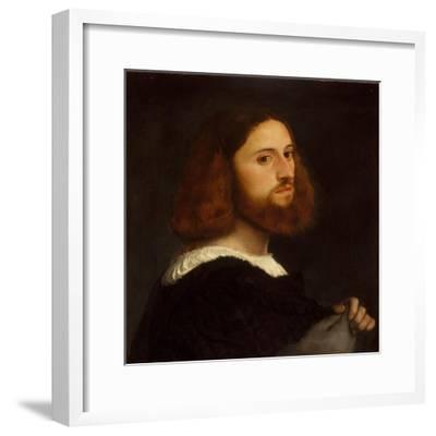 Portrait of a Man, c.1515-Titian-Framed Giclee Print