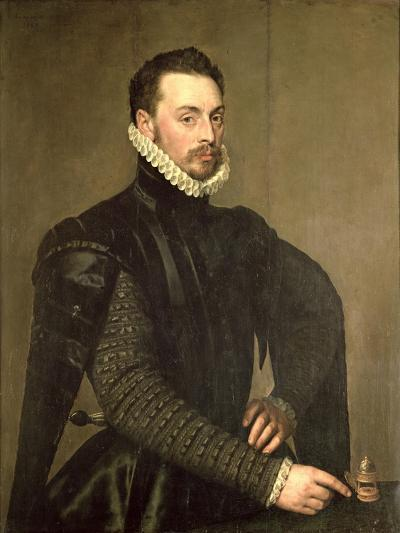 Portrait of a Man from the Retinue of Cardinal Granvelle-Antonis Mor-Giclee Print