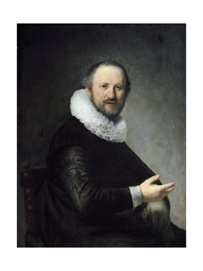 Portrait of a Man Holding His Gloves.--Giclee Print
