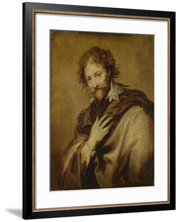 Portrait of a Man, Identified as Peter Paul Rubens, Painter and Diplomat-Anthony Van Dyck-Framed Art Print