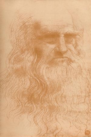 'Portrait of a Man in Red Chalk', c1512, (1932)-Leonardo da Vinci-Framed Giclee Print