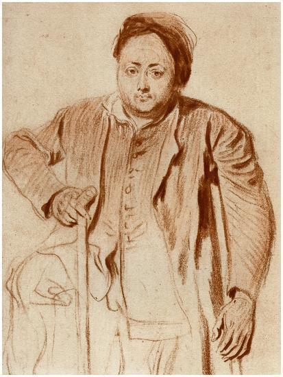 Portrait of a Man on Crutches, C1710-Jean-Antoine Watteau-Giclee Print